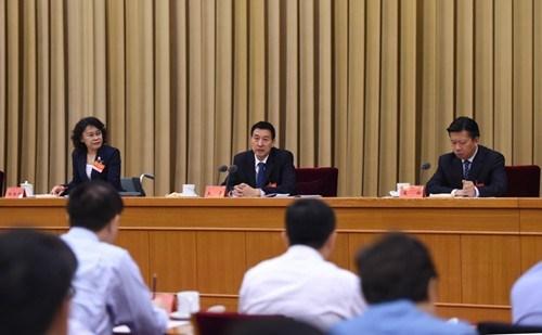图为9月26日,第五次全国残疾人事业工作会议在北京召开,国务委员、国务院残疾人工作委员会主任王勇出席会议并讲话。新华社记者 谢环驰 摄