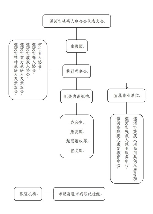 图为漯河市残联组织架构