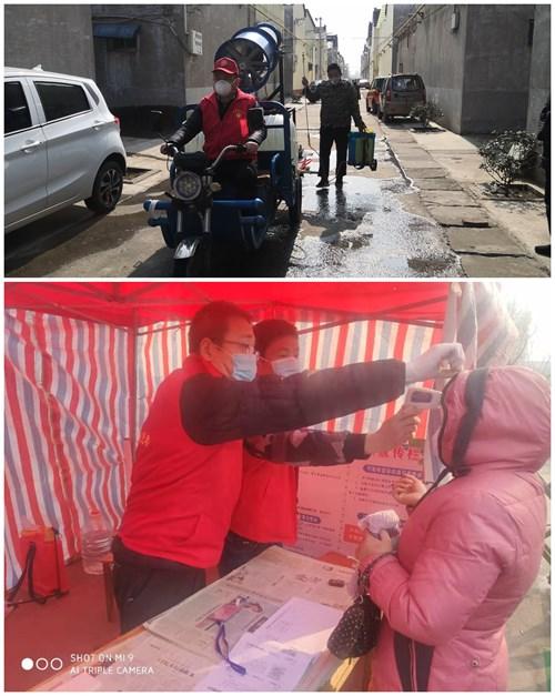 图为残疾党员志愿者参加疫情防控现场