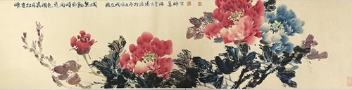 图为:姜栋帥老师写意牡丹
