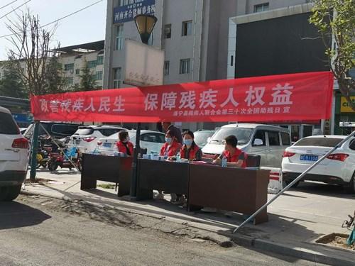图为: 洛宁县残联助残日法律宣传