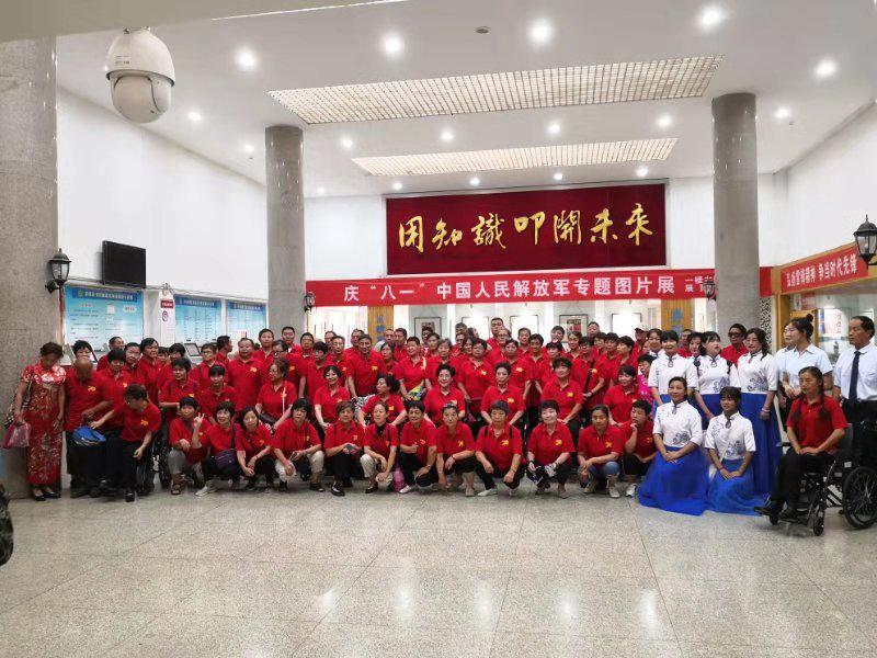 """洛阳市聋协举行百人手语""""唱""""《国歌》排练活动"""