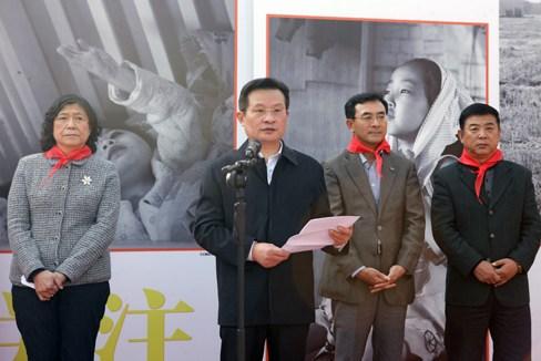 图为中国残疾人联合会党组副书记,常务副理事长孙先德致辞