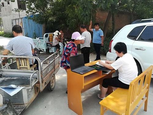 图为范县残联入村入户整改残疾人问题2
