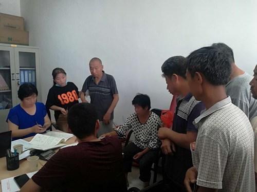 图为范县残联入村入户整改残疾人问题1
