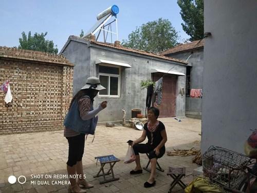 图为范县残联入村入户整改残疾人问题3
