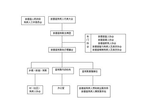 图为:新蔡县残联组织架构