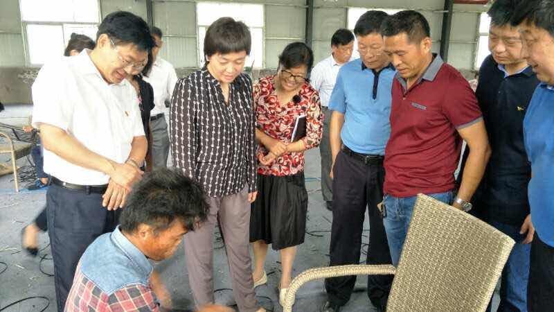 省残联王丽理事长莅临新蔡县调研贫困残疾人脱贫攻坚工作