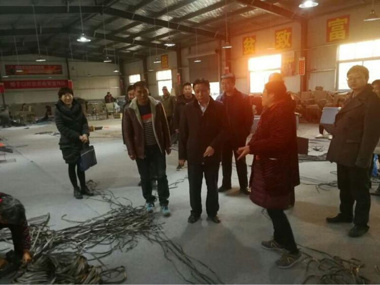 省残联目标考核组对新蔡县进行目标考核