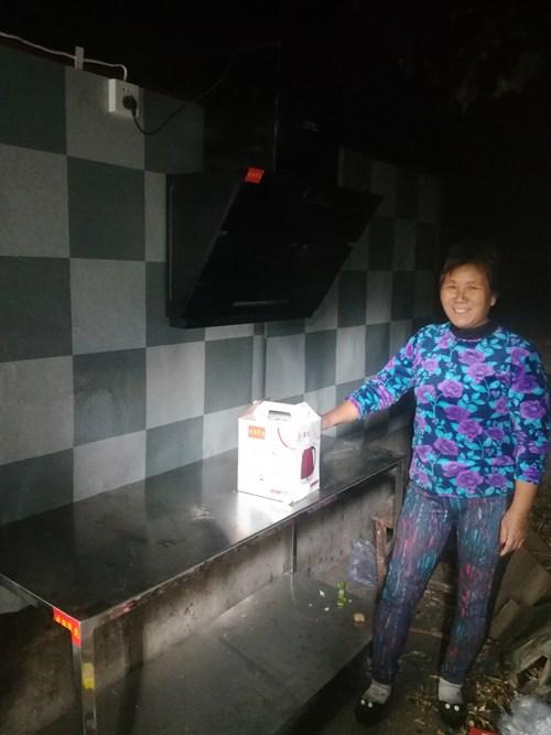 图为为残疾人家庭厨房改造