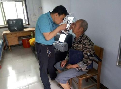图为:视力鉴定