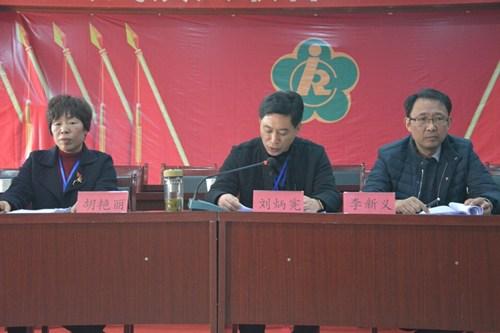 图为县政府副县长、残工委主任刘炳宪在代表会上讲话