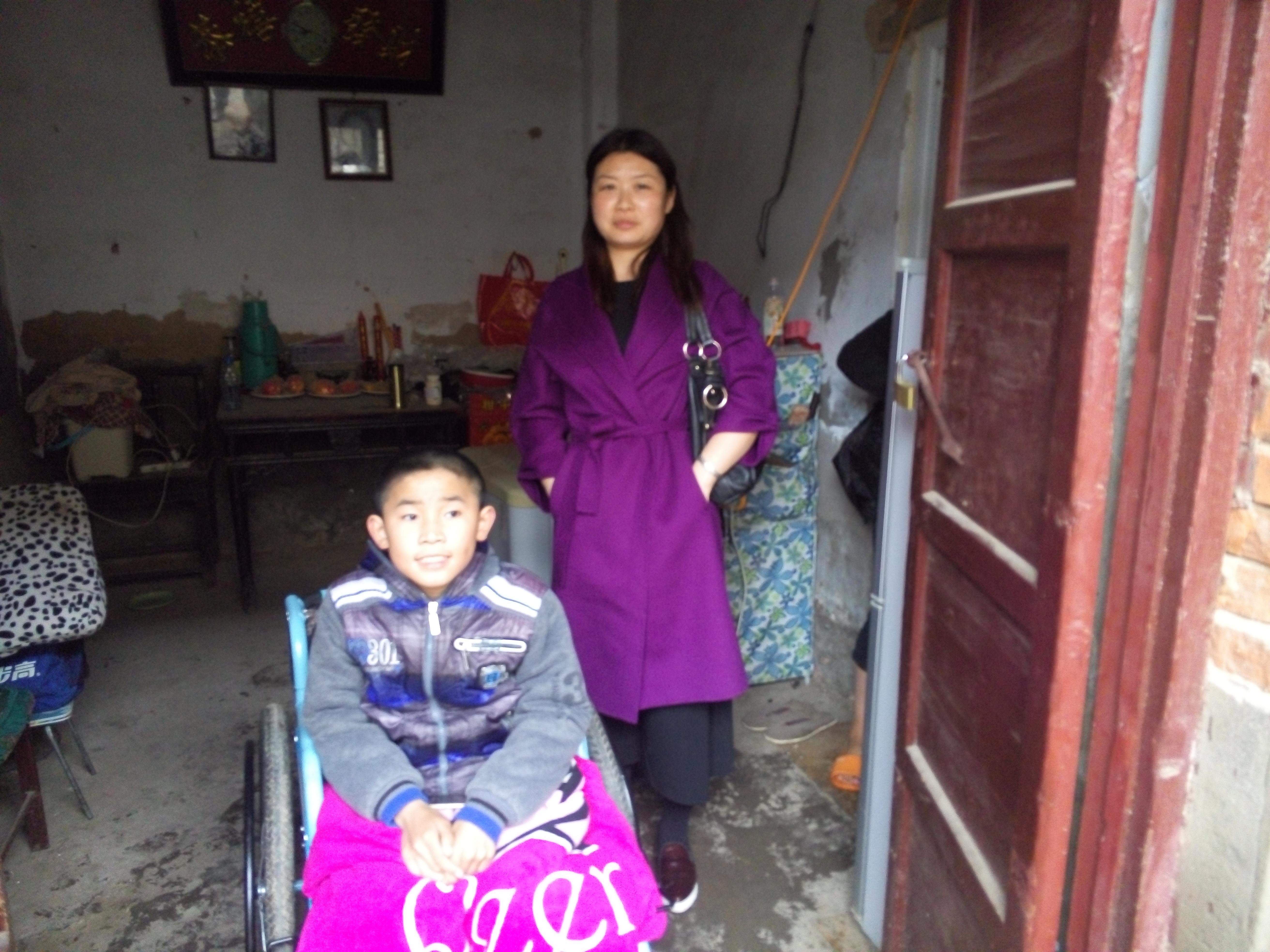 顺河区残联对贫困残疾人家庭开展无障碍改造前期评估工作