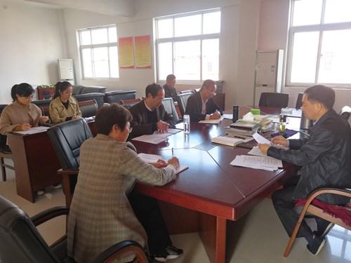 图为市残联党组书记、理事长李德峰讲话