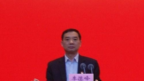 图为pc加拿大党组书记、理事长李德峰讲话