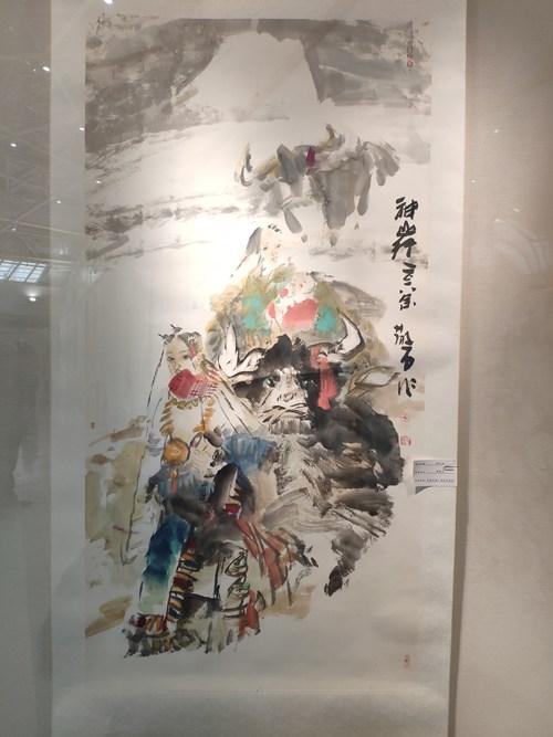 图为张散石作品《神山行》
